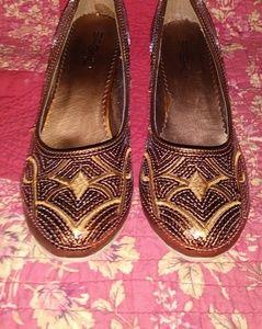 3 for $15 Sasha Bronze Sequin Heels 8